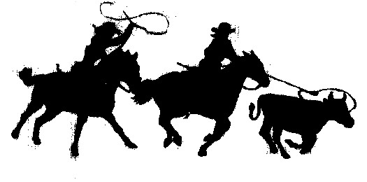 Team Roping Silhouette Team ropers  Team Roping Colored Silhouette